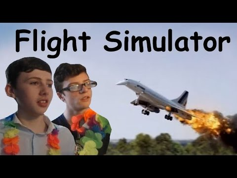 CAMERON AND WILL FLY THE CONCORDE! (Google Earth Flight Simulator) W/ Will!