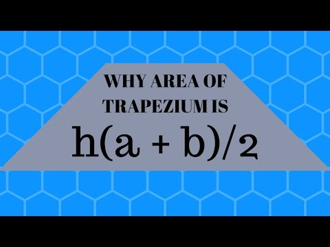 WHY AREA OF TRAPEZIUM IS HALF THE PRODUCT OF ITS HEIGHT AND SUM OF PARALLEL SIDES ?