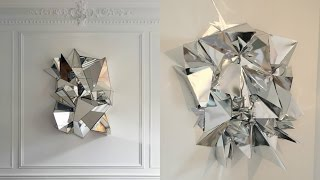 DIY Mirrored Geometric Mosaic Wall Art
