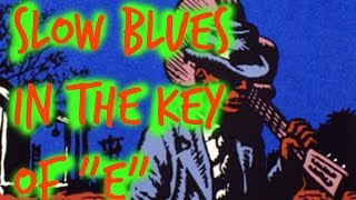 """Slow Acoustic Blues in """"E"""" 9 minute guide (Beginners Welcome)"""