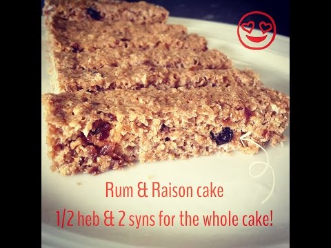 Slimming world rum & raisin cake. Either 1/2 or 2 syns!!!!!!!!