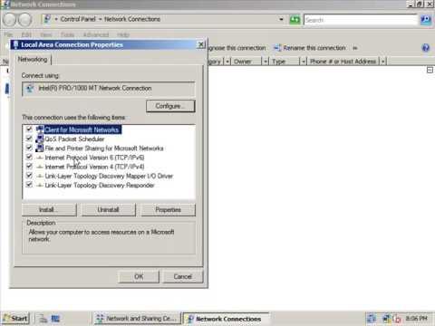 Setting a Static IP Address on Windows Server 2008