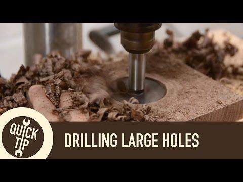 Drilling Holes Larger than your Largest Bit