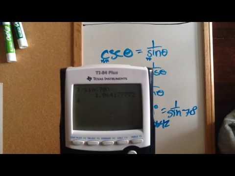 How to put csc sec cot in calculator