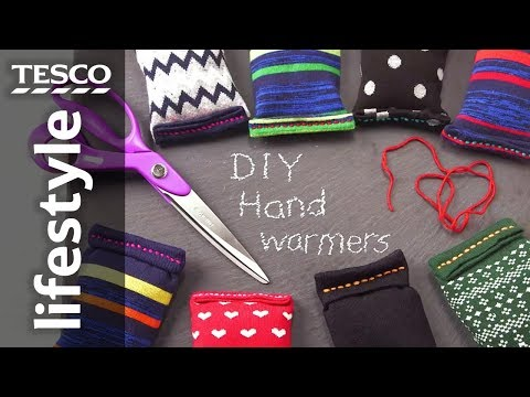 How to make reusable hand warmers from socks | Tesco