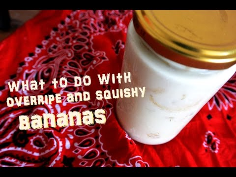 What to do with squishy and overripe bananas? Plus: how to make a banana fly trap!