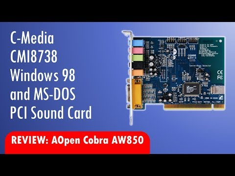 C-Media CMI8738 Retro Sound Card Review Windows 98 and DOS