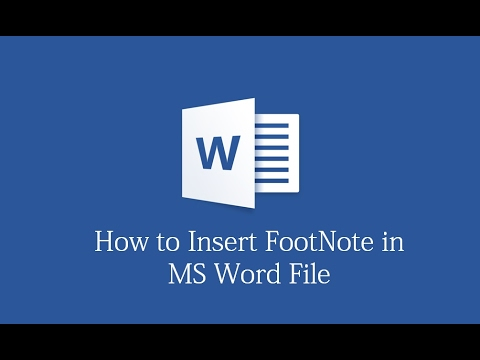 How to insert FootNote in MS Word Document