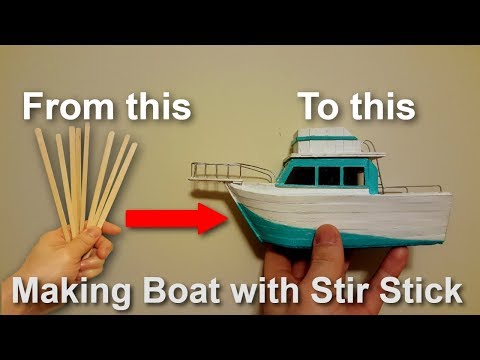 How to Make a Boat with Coffee Stir Sticks