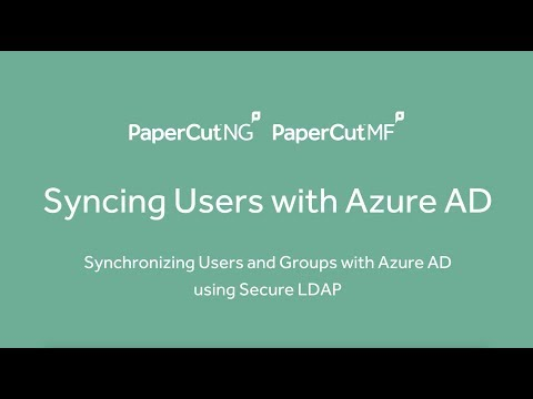 Synchronizing Users and Groups with Azure Active Directory