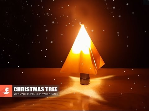 PAPER ART - How to make a GLOWING Paper Christmas Tree