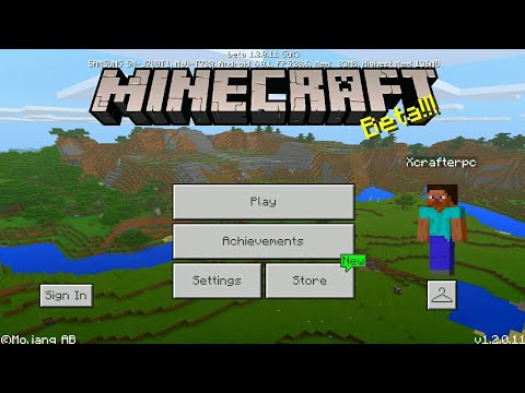 Minecraft PE 1.2 | MCPE 1.2 BETA BUILD 4 RELEASED!! + GAMEPLAY!! (Pocket Edition)
