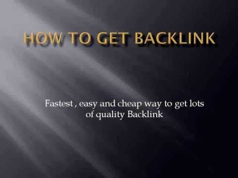 how to get backlinks: Fast easy and cheaper than $10 seo formula