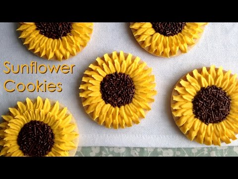 How To Decorate Sunflower Cookies!