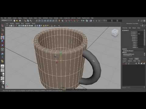 How to model a Cup in Autodesk Maya