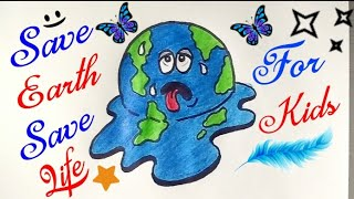 ᐅ Descargar Mp3 De How To Draw Save Earth Save Water Easy Drawing