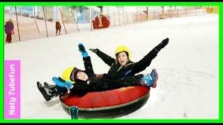 Kids fun Ride on Slide with Sledges-Naty TubeFun