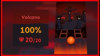 Rolling Sky - Volcano (Level 5) All Gems + Widescreen