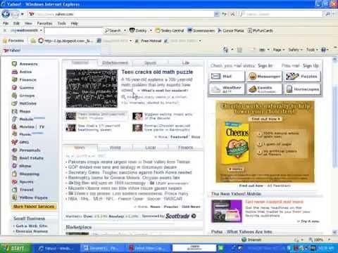 How To Make Yahoo Your Homepage