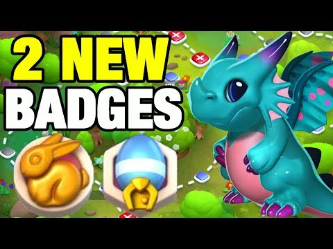 2 New EASTER BADGES + HOW TO GET THEM! FLUTTERBY DRAGON UNLOCKING TOO! - DML #795