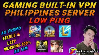 GAMING BUILT-IN VPN PHILIPPINES SERVER LOW PING All Sim | Android & iOS | Data & Wifi | TechniquePH