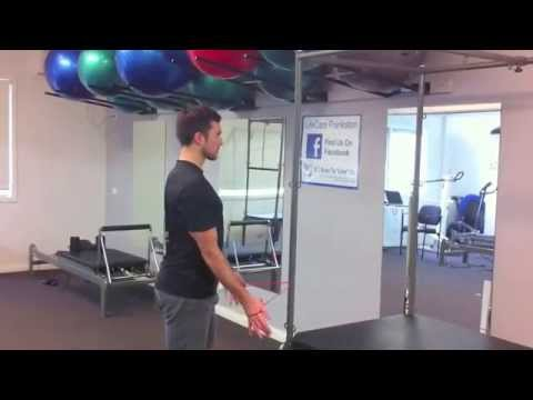 Shoulder exercise - standing cobra lower traps