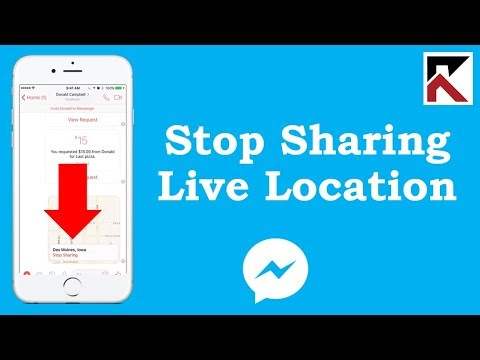 How To Stop Sharing Live Location Facebook Messenger