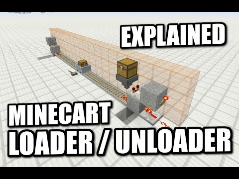 Minecraft PS4 - MINECART LOADER / UNLOADER - EXPLAINED - How To - Tutorial ( PS3 / XBOX ) WII