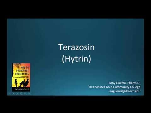 (CC) How to Pronounce terazosin (Hytrin) Backbuilding Pharmacology