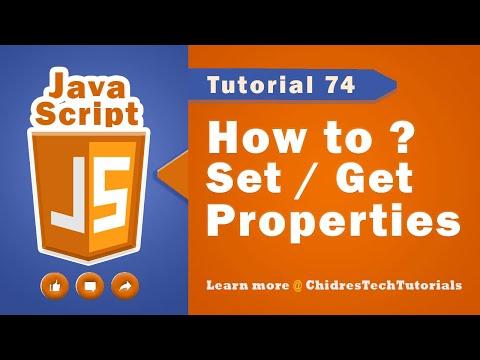 JavaScript tutorial 91 - Setting & getting object properties in javascript