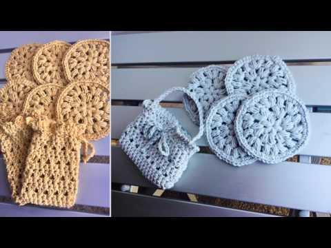 Crochet Wash Cloth Dish Cloth 😊Soap Saver Bag 💼 Crochet Face Scrubbies