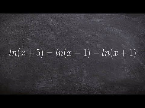 Solving a logarithmic equation with no solutions