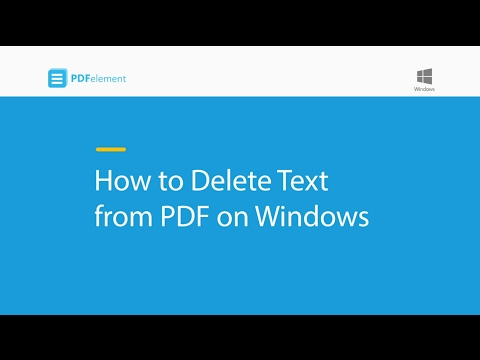 How to Delete Text from PDF on Windows