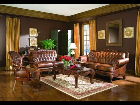Give Antique Look Of The Living Room By Using Rustic Leather Sofa