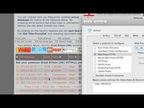 Setting up Proxy on a Mac
