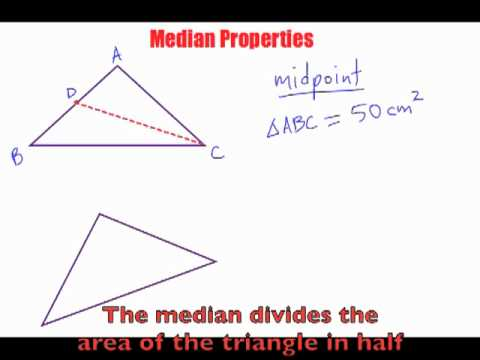 Median of a Triangle Properties