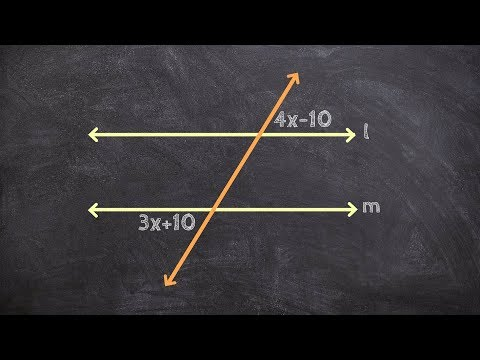 Find the Value of X to Prove Two Lines are Parallel Using Alternate Exterior Angles