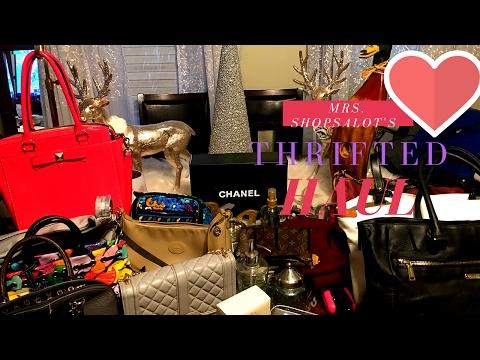 Huge Designer Thrift Haul Chanel  Louis Vuitton Cole Haan Kate Spade