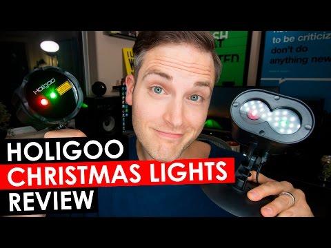 Holigoo Christmas Lights — Holigoo Red & Green Lotus and Alien Review