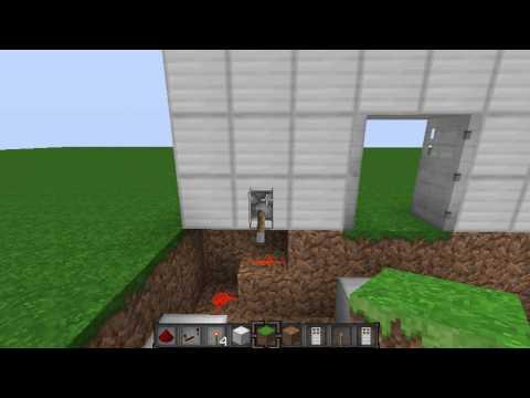 [1.5.1] Minecraft - Double Iron Door With Levers Tutorial