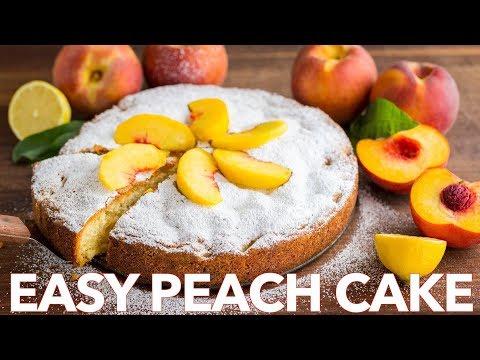 Dessert: How To Make Peach Cake with Fresh Fruit - Natasha's Kitchen