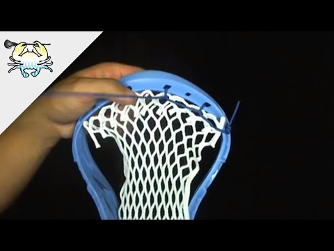How to String a Lacrosse Head Topstring (Triangle Technique)