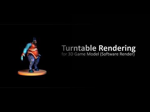 Turntable Rendering with Software Render in Autodesk Maya