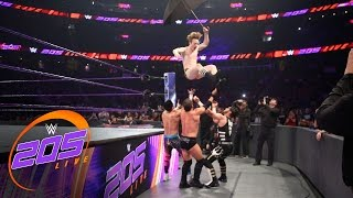 Austin Aries vs. TJ Perkins vs. Mustafa Ali vs. Gentleman Jack Gallagher: WWE 205 Live, Apr. 5, 2017