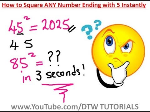 How to Find the Square of ANY Number Ending with 5 Instantly | Maths Trick