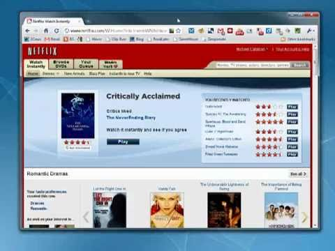 Managing your Netflix queue