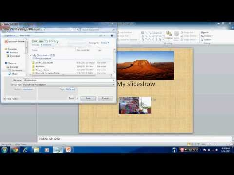 HOW TO SAVE POWERPOINT SLIDESHOW FILE VIDEO IN WMV FORMAT 2013