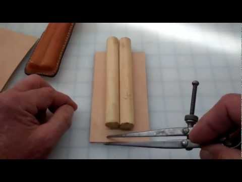Making a simple leather cigar case