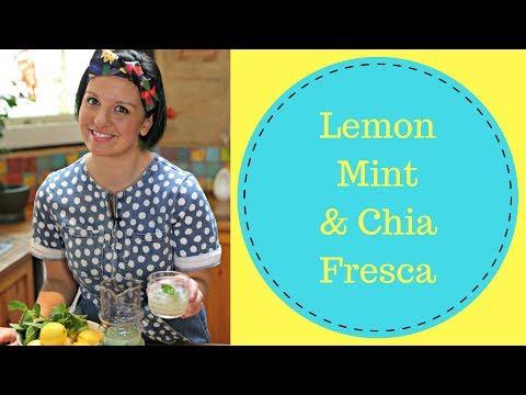 Lemon Chia Fresca Drink by Dani Venn // Alcohol Free Lemon Drink // The Gardenettes