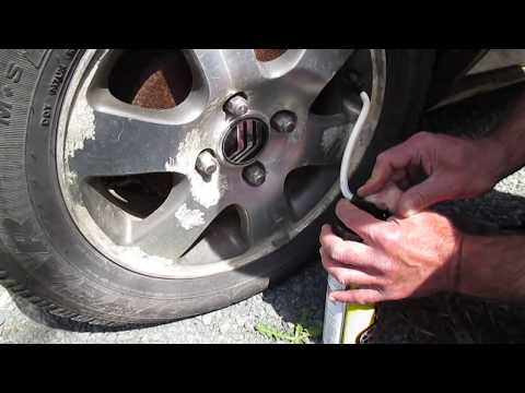 How to inflate a tire with a can of inflator/sealant